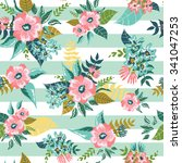 seamless floral pattern... | Shutterstock .eps vector #341047253