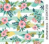 seamless floral pattern... | Shutterstock .eps vector #341047253