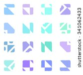 abstract seamless geometric... | Shutterstock . vector #341062433