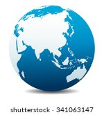 china and asia  global world  ... | Shutterstock . vector #341063147