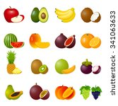 vector illustration with ripe... | Shutterstock .eps vector #341063633