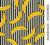 banana seamless pattern. vector ... | Shutterstock .eps vector #341064803
