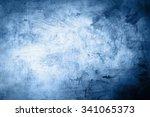 grunge blue background  | Shutterstock . vector #341065373