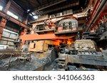 metal smelting furnace in steel ... | Shutterstock . vector #341066363