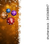 xmas winter abstract  card with ... | Shutterstock . vector #341068847