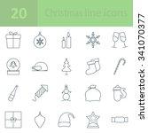 christmas line icon | Shutterstock .eps vector #341070377