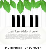 green foliage on background... | Shutterstock .eps vector #341078057