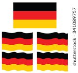flat and waving flag of germany | Shutterstock .eps vector #341089757