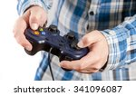 playing video games is fun.... | Shutterstock . vector #341096087