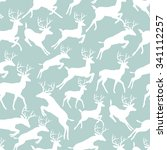 holiday seamless pattern with... | Shutterstock .eps vector #341112257