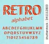 old style alphabet. retro type... | Shutterstock .eps vector #341112803