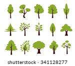 tree icon set   vector | Shutterstock .eps vector #341128277