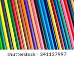 part of colorful pencils  ... | Shutterstock . vector #341137997
