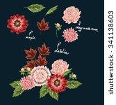 hand drawn flowers    Shutterstock .eps vector #341138603