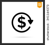 vector icon of dollar sign in... | Shutterstock .eps vector #341164373