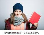 Beautiful Girl With Book In...
