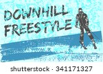 downhill freestyle. ski...