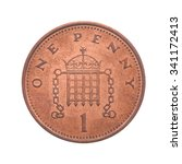 British One Penny Coin Reverse...