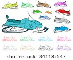 clipart with multi colored... | Shutterstock .eps vector #341185547