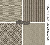 collection of seamless tweed... | Shutterstock .eps vector #341186903