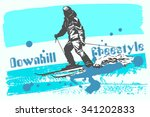 downhill freestyle. print label ...