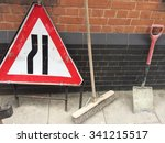 Road Sign  Broom And Spade...