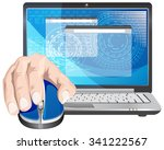 remote access   illustration | Shutterstock .eps vector #341222567