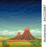 summer night vector... | Shutterstock .eps vector #341223887