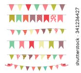 party flags set illustration.  | Shutterstock . vector #341236427
