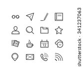 blog icons. blog and social... | Shutterstock .eps vector #341237063