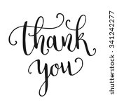 thank you hand lettering... | Shutterstock .eps vector #341242277