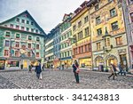 lucerne  switzerland   january... | Shutterstock . vector #341243813