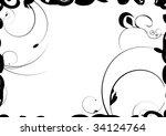 black decorative design with... | Shutterstock . vector #34124764