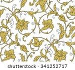 luxury golden seamless...   Shutterstock . vector #341252717