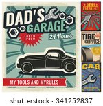 vintage retro style. set of... | Shutterstock .eps vector #341252837