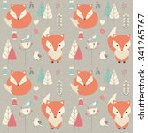 seamless pattern with cute... | Shutterstock .eps vector #341265767