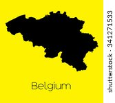 a map of the country of belgium | Shutterstock .eps vector #341271533