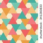 seamless pattern of geometric...   Shutterstock .eps vector #341283833