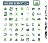 online education  learning ... | Shutterstock .eps vector #341291027