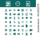 marketing  market icons  signs... | Shutterstock .eps vector #341302373
