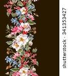 watercolor vintage seamless...   Shutterstock . vector #341353427