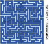labyrinth of low complexity | Shutterstock .eps vector #341369153