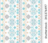 ethno seamless pattern. ethnic... | Shutterstock . vector #341376497