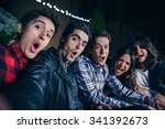 group of funny young friends... | Shutterstock . vector #341392673