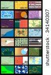 business cards set | Shutterstock .eps vector #34140307