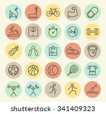 set of isolated universal... | Shutterstock .eps vector #341409323