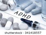 adhd   diagnosis written on a... | Shutterstock . vector #341418557