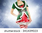 Slim Young Woman In Elf Dress...