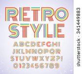 old style alphabet. retro type... | Shutterstock .eps vector #341449883