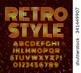 old style alphabet. retro type... | Shutterstock .eps vector #341449907